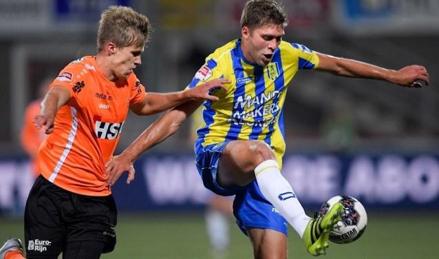 RKC Waalwijk heeft afgelopen vrijdag op bezoek bij FC Volendam nipt verloren (1-0). RKC speelde vanaf de 65e minuut met een man minder. Foto: Soccrates Images