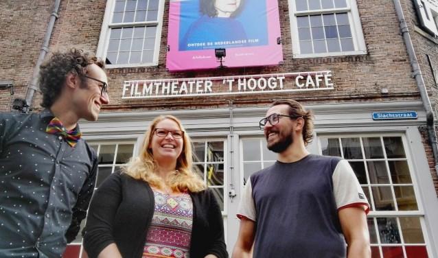 Het nieuwe programmeurs-team Leendert Oostlander, Miranda van Gelder en Michiel Langbroek.
