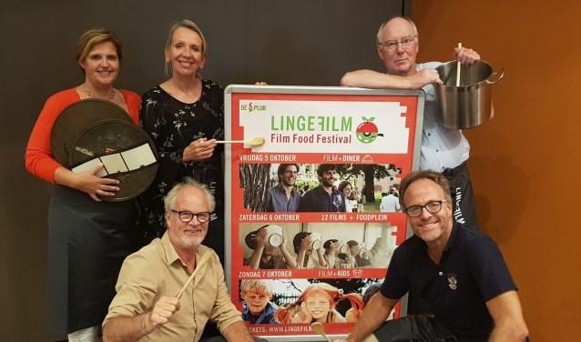 De commissie die het Film Food Festival georganiseerd heeft