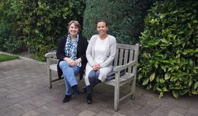 Eva Bloemen (verlies- en rouwcoach) en Naomi Wijling (ervaringsdeskundige)