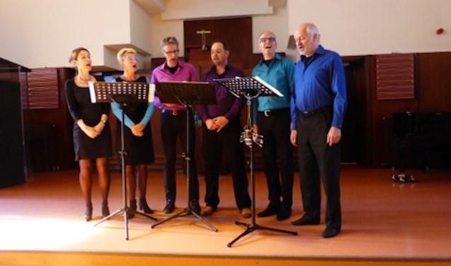 Close-harmony-groep de Wednesday Evening Singers is zondag te gast bij Honsoirde.