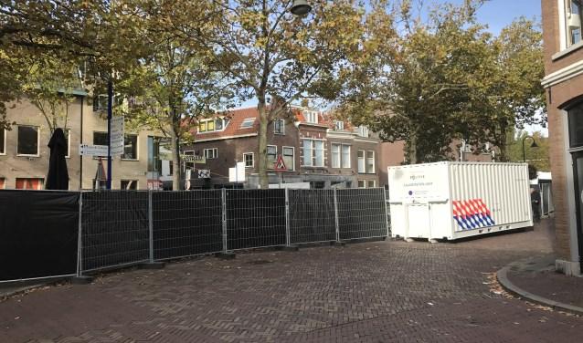 Foto van gisterochtend na het tot nu toe laatste incident in de Breestraat.