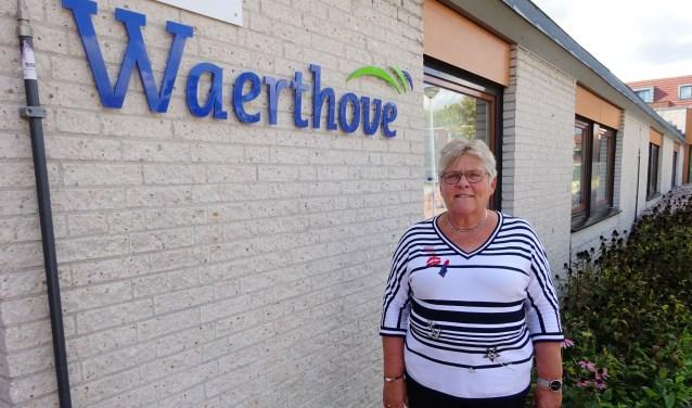 Janny van der Linden uit Sliedrecht is vrijwilligerscoördinator bij verpleeghuis Waerthove bij Rivas. (Foto: Eline Lohman)