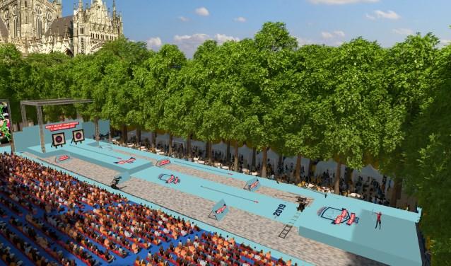 Een impressie van de Parade, zoals die eruit ziet tijdens de wereldkampioenschappen handboogschieten.