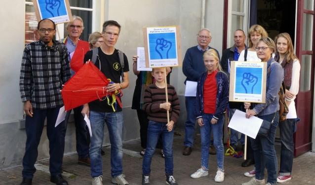 Protest Afgaanse vluchtelingen