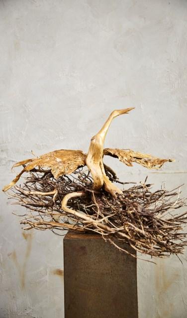 Een kunstwerk van Tineke Szarzynski dat bij de galerie is te zien. Foto: Erikjan Koopmans.