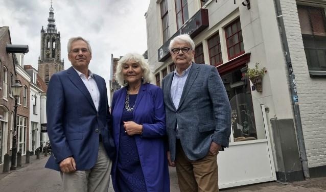 Van links naar rechts Hans Kattemölle, Conny Meslier en Walter Gerritsen.
