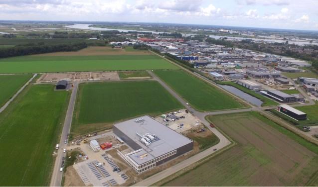 Een dronefoto van Bresc.