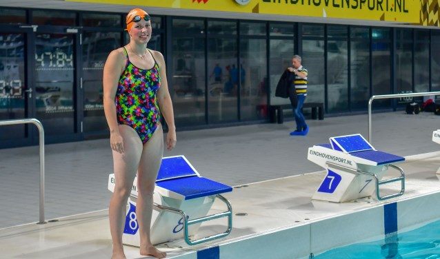 """""""Met de vlinderslag ben ik gewoon een beest in het water"""", aldus Judith van Kemenade. FOTO: Bert Jansen."""