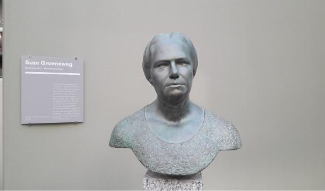 Borstbeeld Suze Groeneweg onlangs onthuld in de Tweede Kamer