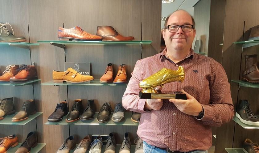 Rudi Wiendels met de Gouden Schoen.