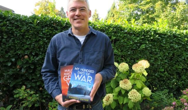 Darrell Duthie schreef zijn tweede historische roman in de Engelse taal over de Eerste Wereldoorlog. (Foto: Marian Vreugdenhil)