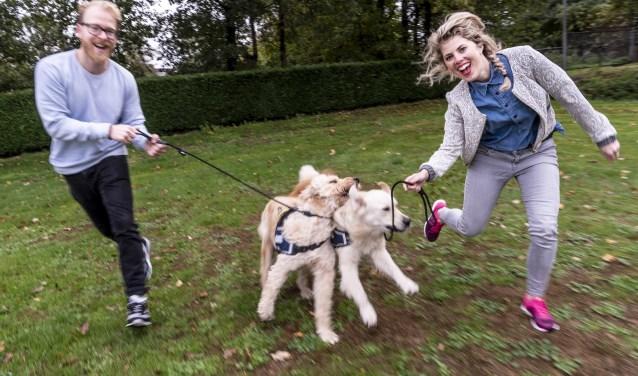 Maartje Jansen en Pieter Blickman. Organisatoren van The Big Run. Hardloopevenement met en zonder hond.