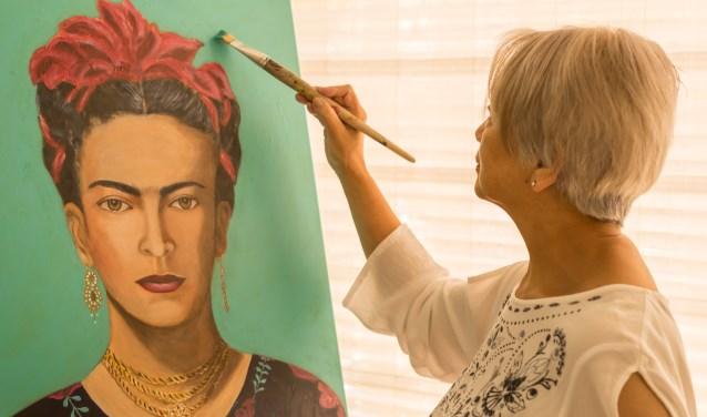 portret geschilderd door Sylvia Lefering
