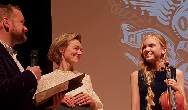Liv Tempelaars won de anamoedigingsprijs tijdens de Orion Classic Awards.
