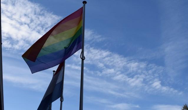 Opeens hing de vlag er. De gemeente Ede koos ervoor om geen ruchtbaarheid aan het hijsen te geven.
