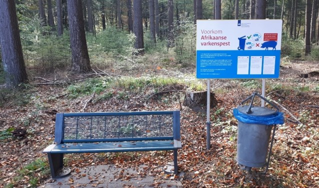 Provincie Gelderland plaatst vijftig waarschuwingsborden langs provinciale wegen in het bijzonder op de Veluwe.