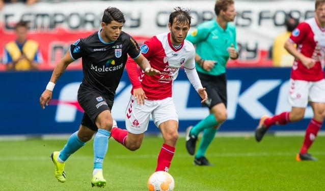 Gustavo Hamer aan de bal in het duel met FC Utrecht.