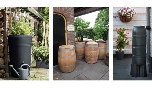 Deelnemers hebben de keuze uit een rustiek eikenhouten wijnvat, een design versie met plantenbakje of een rustiger model.