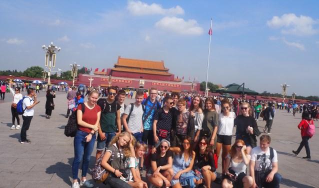 De leerlingen bezochten debekende trekpleisters zoals de Lama Tempel en de Verboden Stad.