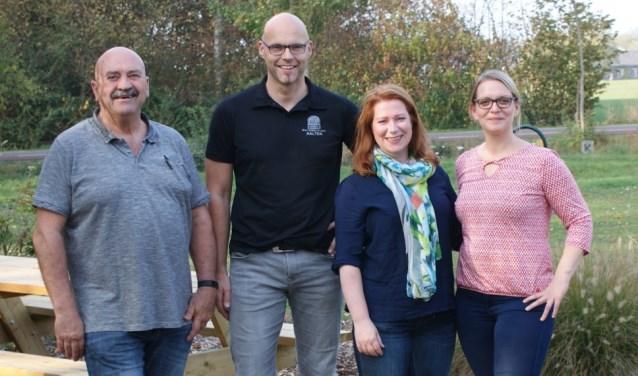 Vlnr: Johan Bouwer, René Lensink, Carmen Frericks, Mieke van Doorn. Op de foto ontbreekt Susanne Huber.