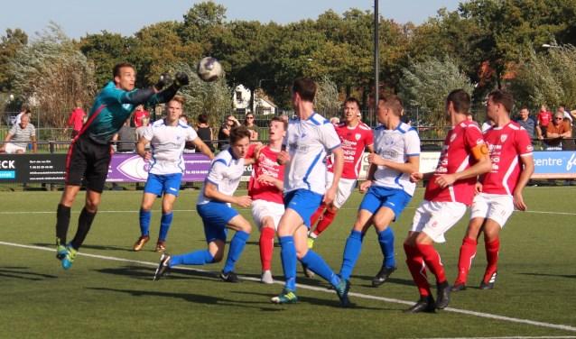 Sportlust '46 speelde een goede wedstrijd tegen het Langbroekse SVL. FOTO: Arie Verhagen