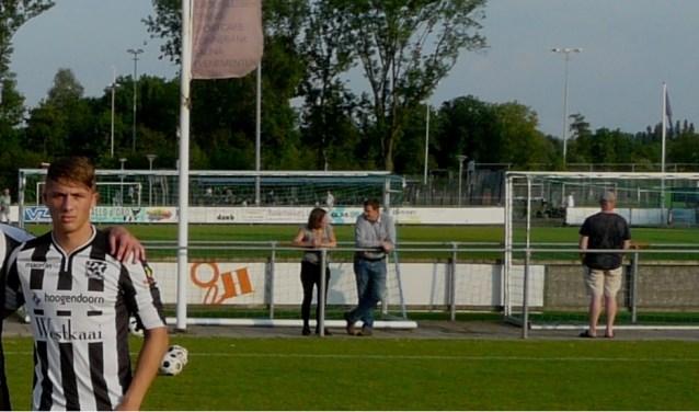Justin van Mullem (rechts) sluit na zijn schouderblessure weer aan en hoopt zaterdag in de thuiswedstrijd tegen Rijnvogels zijn rentree te kunnen en mogen maken. (Foto: Persgroep/gsv)