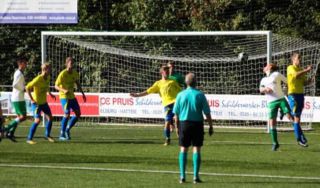 Hatto-Heim ging thuis met 0-2 onderuit tegen de Zwolse Boys. Foto: Gradus Dijkman