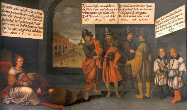 Een deel van een werk van Pauwels van Schooten: Raadsel van Nijmegen. Foto: Museum Het Valkhof Nijmegen