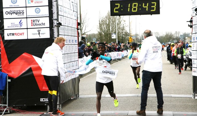 Tijdens de vorige editie van de Utrecht Science Park Marathon. Foto: Archief/Johan Morgenstond