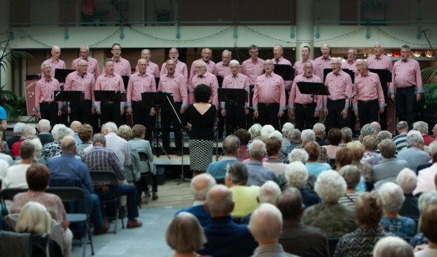 Mengelmoes tijdens optreden dag voor de ouderen.