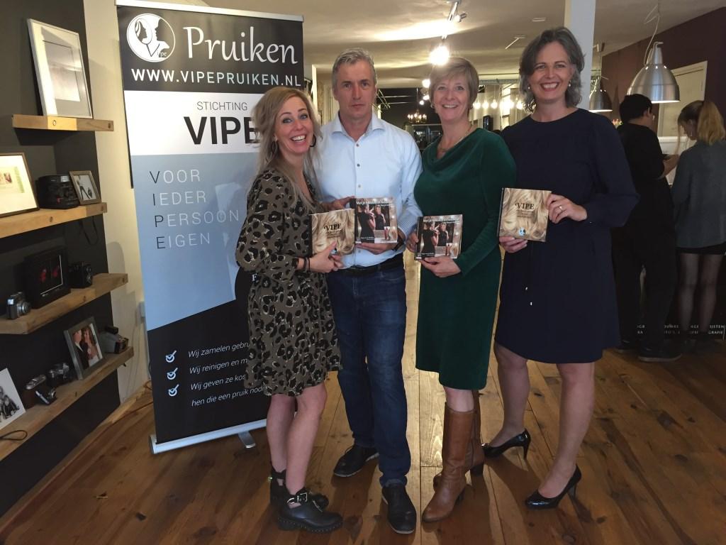 Van links naar rechts Peggy van de Vijfeijken, Gerard van Hal, Aldi van Lierop en Vivienne van Leuken.