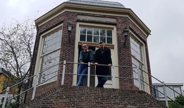 Ivanka de Ruijter en Martijn Adelmund dromen over een nieuwe invulling van het Theekoepeltje langs het Wallenpad.
