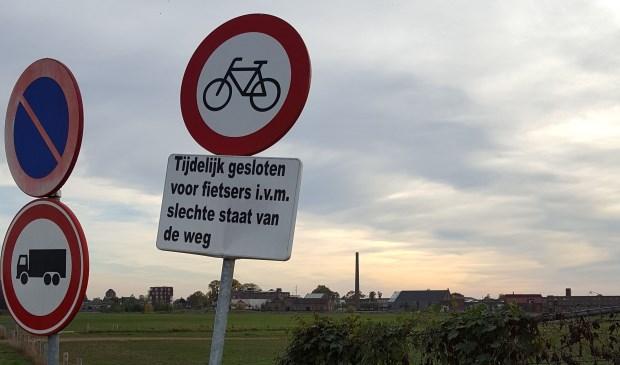 Verboden voor fietsers.