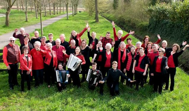 De Vlissingse accordeonvereniging Concertina  FOTO: JAN KIKKERT
