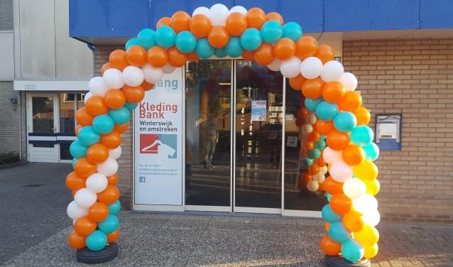 Ballonnenboog bij de ingang