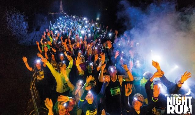 Ook vorig jaar was de Rotterdam Night Run een groot succes