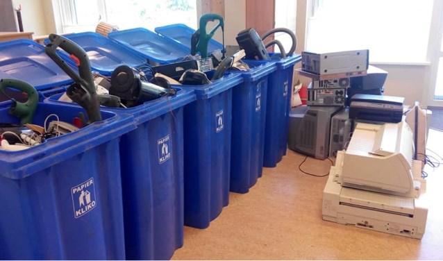 Al meer dan 2500 apparaten en kabels zamelde de Eben-Haëzerschool in, om te recyclen.