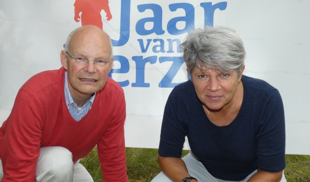 Edie Brouwer en Willemien Meershoek van Kamp Amersfoort. (Foto: Adriënne Nijssen)