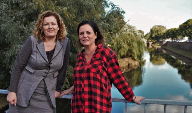 Monique Bredeveld (r) en Lonneke Voets zijn de initiators achter BOEL, een sociale onderneming voor starters in de creatieve sector.