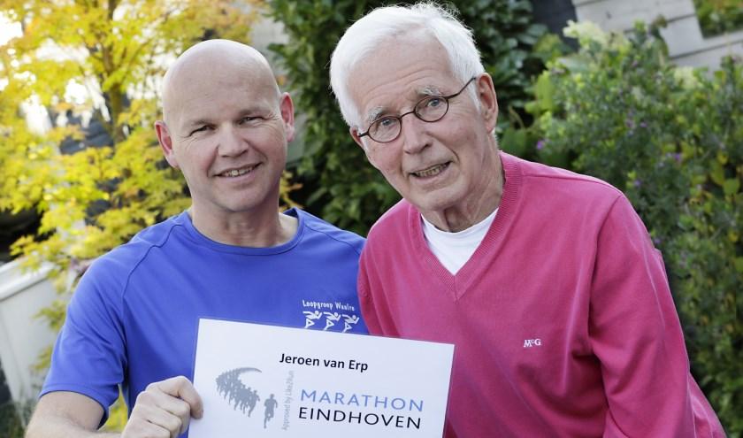 Jeroen en Piet van Erp uit Valkenswaard houden allebei van hardlopen. (Foto: Jurgen van Hoof.)