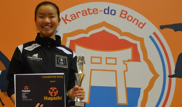 Jinthe Hengstman heeft bij het jeugdkampioenschap zeventien deelnemers achter zich gelaten.