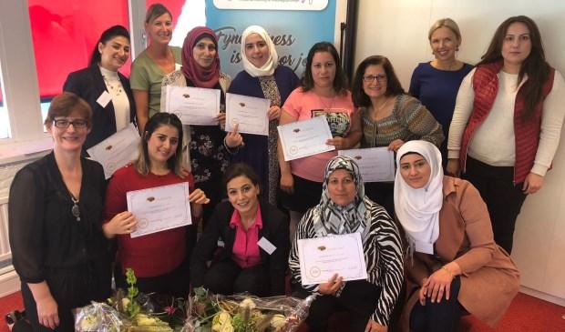 Vijftien vrouwen werken aan hun toekomst met succesvol EVA project. Eigen foto