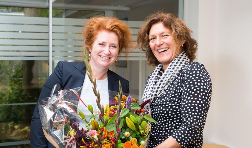 Sabine Blom (links) en Inge Petit van Saar aan Huis. Foto: Judith Cappon Fotografie