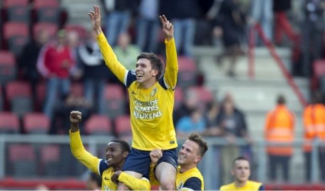 De laatste overwinning van RKC Waalwijk op bezoek bij FC Twente dateert van 13 mei 2012. Door de 0-1 overwinning ging RKC destijds door naar de finale van de play-offs om Europees voetbal. Foto: ProShots
