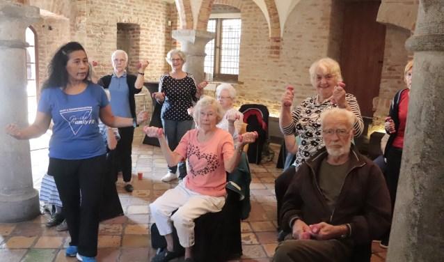 De fitness op de seniorendag nam een voorname plaats in