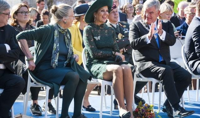 Hare Majesteit Koningin Máxima was vrijdag aanwezig op het Brusselplein voor de 20e verjaardag van Leidsche Rijn. Foto: Marnix Schmidt