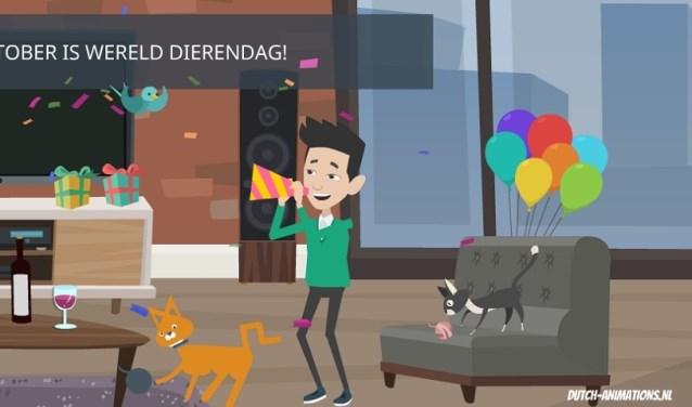 Amivedi staat stil bij Dierendag. dutch-animations.nl