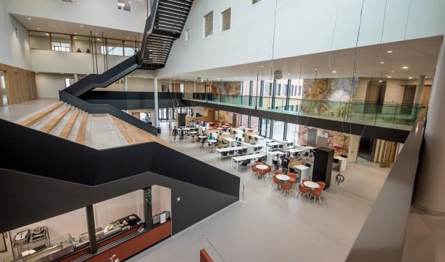 De aula van het Vitalis college is het hart van de nieuwe school.