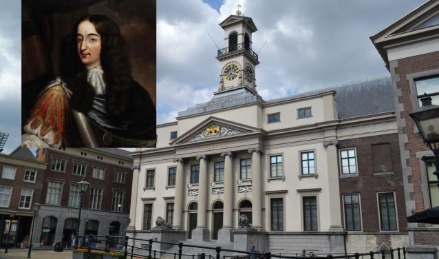 Het stadhuis met het omstreden portret van de stadhouder.